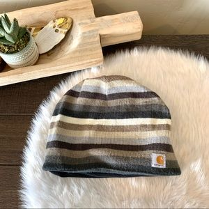 Carhartt knit striped fleece lined beanie